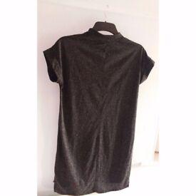 Grey tshirt dress size 10