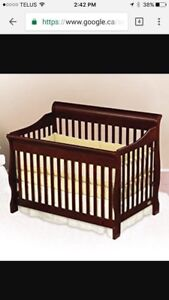 4 in 1 convertible crib with changing table