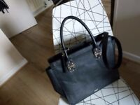 PAUL COSTELLOE Handbag in Premium black Leather. Must Sell!