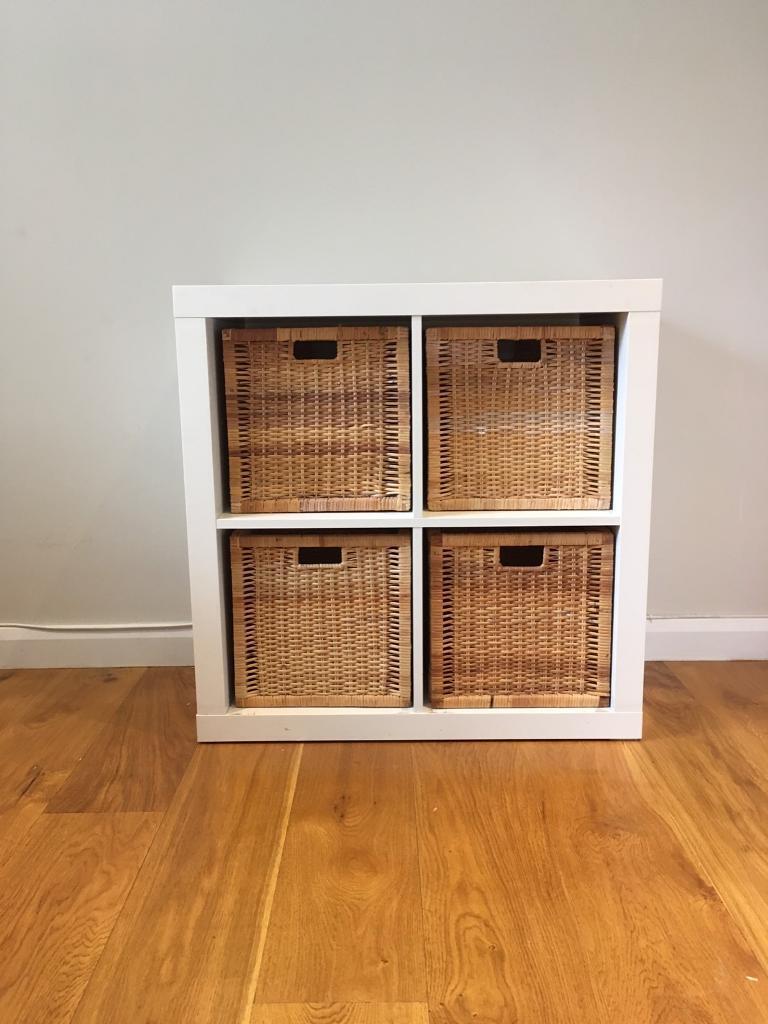 kallax malm ikea storage cube wicker baskets | in winchester