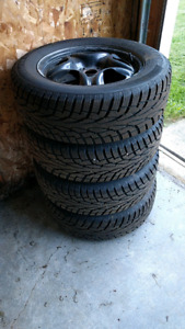 Winter tires 225/65R17 with rims used one winter on RAV4