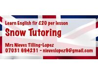 English Tutor £20 hour. Pass your IELTS, assignments and other exams.