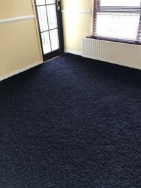 Brown Hessian Back Shag Pile Carpet