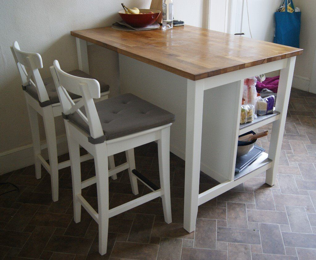 Kitchen Island Breakfast Bar With Stools Ikea Stenstorp 2x Ingolf