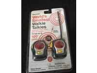 World's Smallest Walkie Talkies - brand new