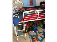 White mid sleeper/cabin bed