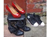 3 ladies shoes (size 6) for £20