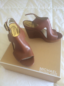 Brand New Michael Kors Leather Wedges