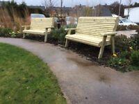 Pressure treated 2 seated ergo bench