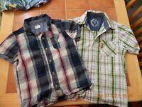5/6 years 2 short sleeved shirts