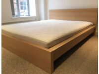 Ikea Malm Superking Bed +/- memory foam mattress