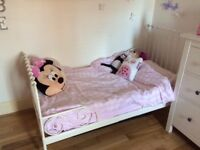 Beautiful cream toddler Children's bed (expands)