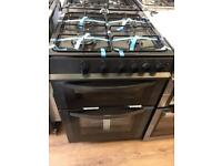 New Ex-Display Logik LFTG60A12 Anthracite Black 60cm Gas Cooker £229