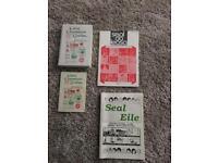 Irish language work books and cassettes