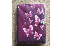 "7 inch Case Cover Book For 'Tablet - 7"" Purple butterfly Case"