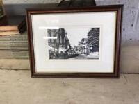 Small Framed Black & White Photograph Of Falkirk c1893