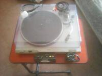Technics Record Turntable + Records