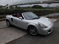 ITS HERE A MR2 CONVERTIBLE 02 PLATE WITH RED LEATHER..GREAT SPEC..GREAT SOUND SYSTEM.ALLOYS.STUNNING