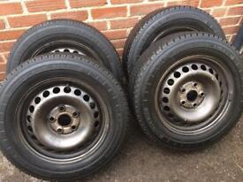 4 x Genuine VW T5 steel wheels