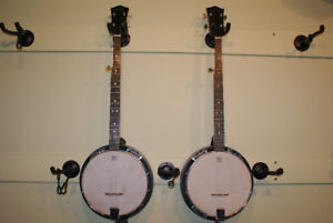 Hondo HB 5A 5 string banjos with hardshell cases,$350.00 each