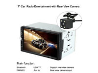 Car Stereo 7inch HD Touch Screen Multimedia with Rear Camera Aux Input