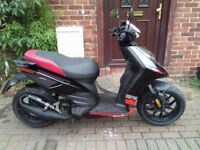 2013 Aprilia SR Motard 50 scooter, 2 stroke, new 1 year MOT, low mileage, bargain, not zip typhoon..
