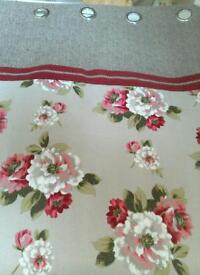 New eyelet curtains size 66 by 90 drop.