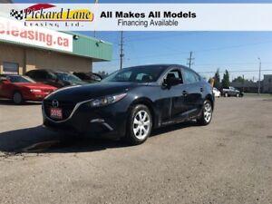 2015 Mazda MAZDA3 $110.55 BI WEEKLY! $0 DOWN! SEDAN! BLACK ON BL