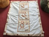Brand New Cot quilted Duvet, 4 tog, polyester, with child motif.