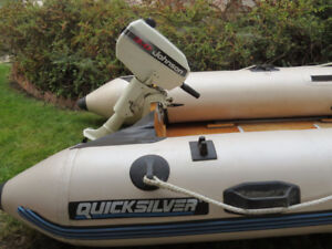 Quicksilver Inflatable boat with motor in Kelowna