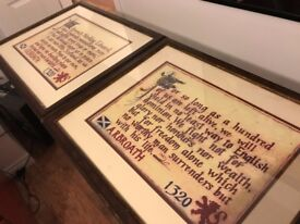 Declaration of Arbroath Framed Pictures For sale