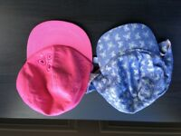 2x girls summer hats Age 2-3 one new