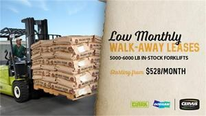Low Monthly Walk Away Leases on 5000/6000 lb Forklifts