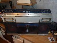 Sharp VZ2000 80's Stereo System Boom Box Ghetto Blaster Record Player