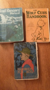 3 Scouting Books  1910 Handbook For Boys Boy Scouts of America