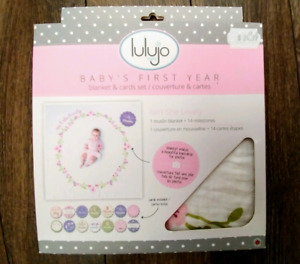 Baby's first year blanket & milestone cards NEW