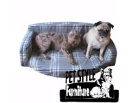 Gleneagles Designer Dog Bed Sofa, Very Stylish Pet Bed, 3 sizes, 4 colours