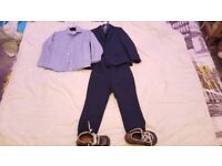 Next Navy Blue Boys Suit & Kickers Boots