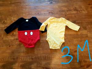 Boys long sleeve onsies 3 months up to 24 months