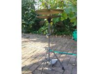 Hihg hat stand/cymbals - used