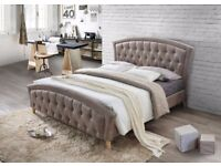 ◄◄Same Day Free London Delivery►►MERCI BED Double BED/ Kingsize bed Designer Bed