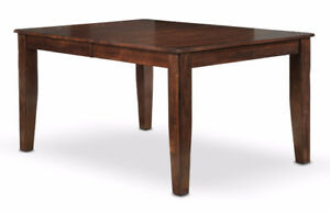 Dark Oak Hand-Distressed Dining Table Set