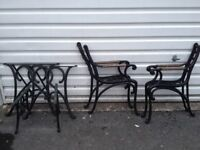Cast iron bench/chair frames and table legs for refurbishment
