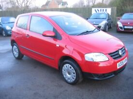 2006 VOLKSWAGEN FOX 1.2 55 3 DOOR HATCHBACK IN BRIGHT RED, LOW TAX AND INSURANCE.. IDEAL FIRST CAR