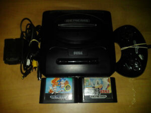 Sega Genesis with 2 games