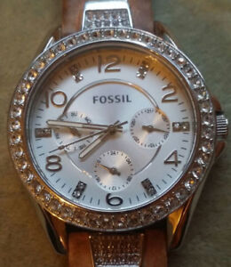 Fossil - Gem Dial Watch - Pearl White Gold