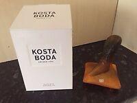Kosta Boda glass shoe ornament