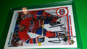 Mike Mcphee autographed Montreal Canadiens NHL Hockey cards