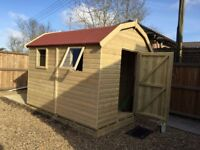Garden Shed, Superior Heavy Duty Tanalised Wood Dutch Barn, size 7ft x 5ft from just £695.00