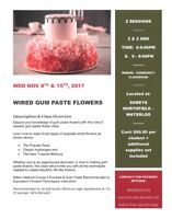Wired Gum Paste Flowers - Wilton Cake Decorating Class